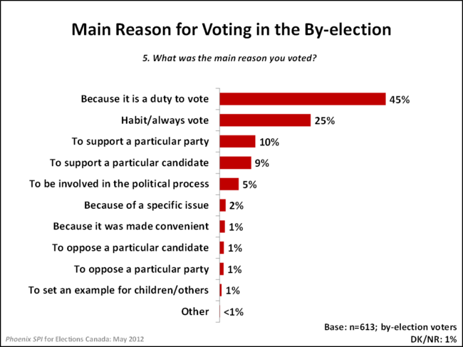 Main Reason for Voting in the By-election