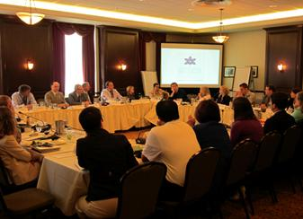 Roundtable participants at work