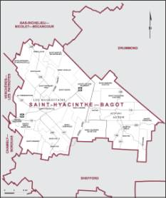 Map - Saint Hyacinthe–Bagot