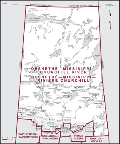 Map - Desnethé–Missinippi–Churchill River