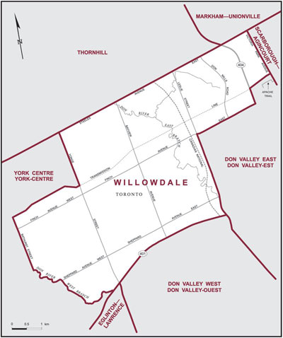 Map - Willowdale