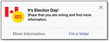 Facebook message posted on election day.