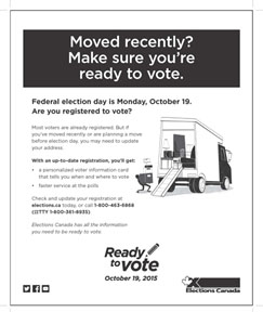 Print ad for Phase 1 – Registration.