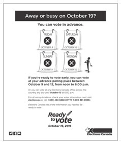 Print ad for Phase 3 – Advance polls.
