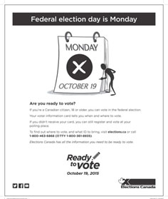 Print ad for Phase 4 – Election day.