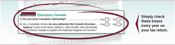 Elections canada online filing your taxes check the boxes text description ccuart Images
