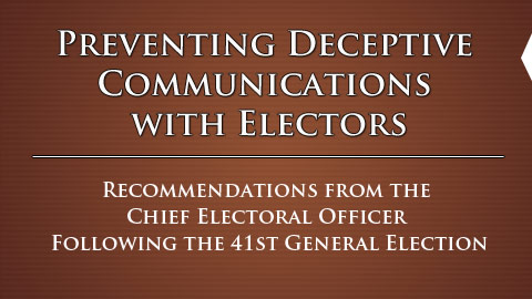 Preventing Deceptive Communications with Electors